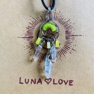 Green Agate Tree of Life Dreamcatcher Necklace | Luna Love