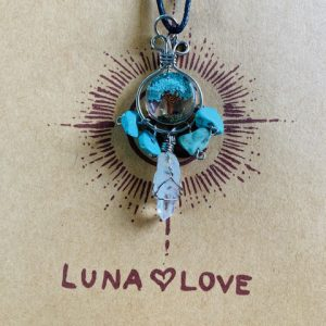 Turquoise Tree of Life Dreamcatcher Necklace | Luna Love